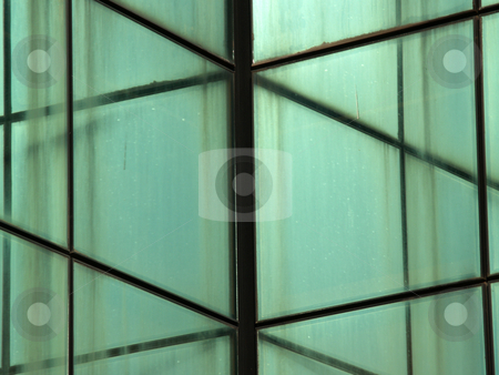 Glass wall building stock photo, Glass wall building, mesh pattern by Portokalis