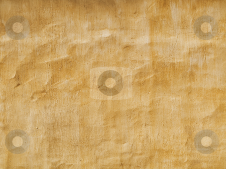 Yellow wall stock photo, Texture rich vintage yellow wall abstract by Laurent Dambies