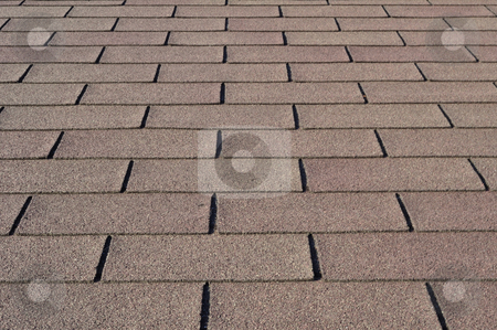 Roof shingles. stock photo, Construction: Detail of shingles on house rooftop. by Fernando Barozza