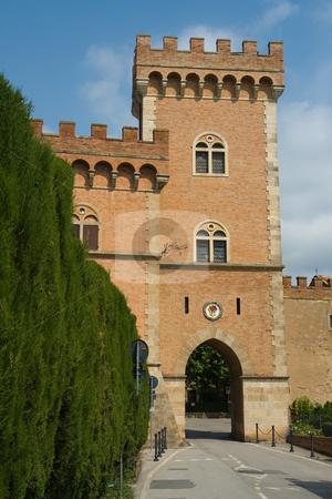 Dorfansicht Bolgheri, Toskana - City view of Bolgheri, Tuscany stock photo, Bolgheri ist eine toskanische Stadt in K?stenn?he, die ber?hmte Weine hervorgebracht hat. - Bolgheri is a town in tuscany, italy, famous for its great vines. by Wolfgang Heidasch