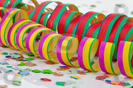 Ribbons and Confetti stock photo, Ribbons and confetti. Horizontally framed shot. by Erwin Johann Wodicka