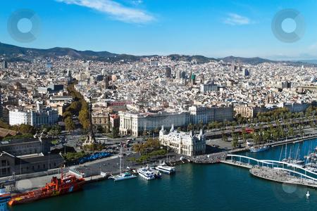 Cityscape of Rambla del Mar, Barcelona, Catalonia, Spain, Europe stock photo, Cityscape of Rambla del Mar, Barcelona, Catalonia, Spain, Europe. Horizontally framed shot. by Erwin Johann Wodicka