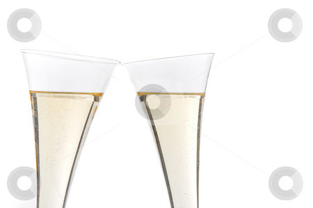 Champagne stock photo, Champagne glasses. Horizontally framed shot. by Erwin Johann Wodicka