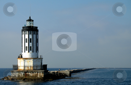 Angel's Gate Lighthouse stock photo, Angel's Gate lighthouse off of San Pedro, CA by Henry Enriquez