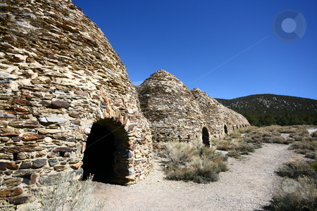 Charcoal Kilns stock photo, Wildrose Charcoal Kilns, Death Valley National Park by Henry Enriquez