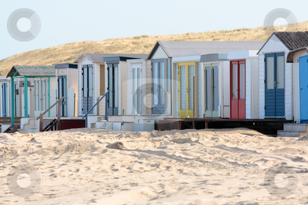 Beach houses stock photo, Beach houses by Nenad Curcic