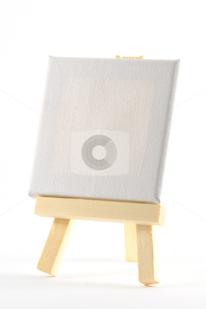 Blank Easel stock photo, Blank easel isolated on white background. by Tammy Abrego