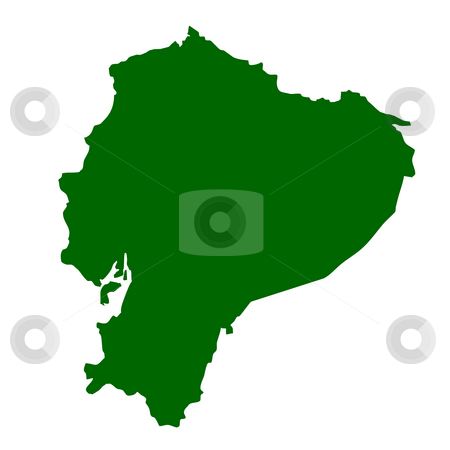 Ecuador stock photo, Map of Ecuador isolated on white background. by Martin Crowdy