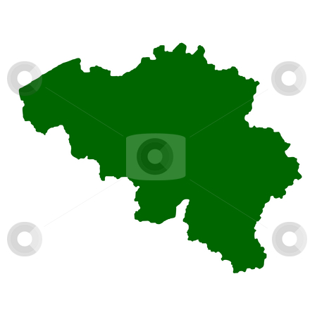 Belgium map stock photo, Map of Belgium isolated on white background. by Martin Crowdy