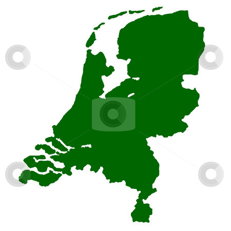 Netherlands stock photo, Map of Netherlands isolated on white background. by Martin Crowdy