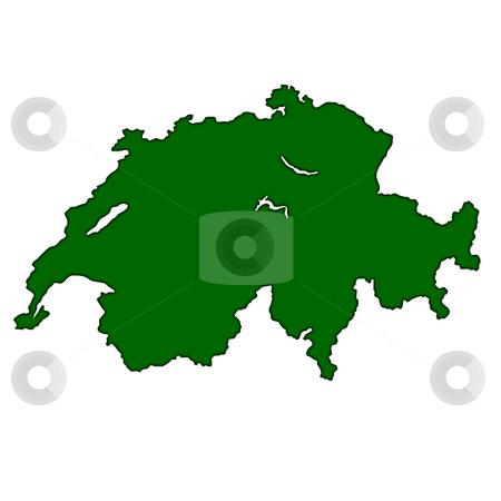 Switzerland stock photo, Map of Switzerland isolated on white background. by Martin Crowdy