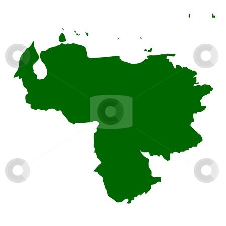 Venezuela stock photo, Map of Venezuela, isolated on white background. by Martin Crowdy