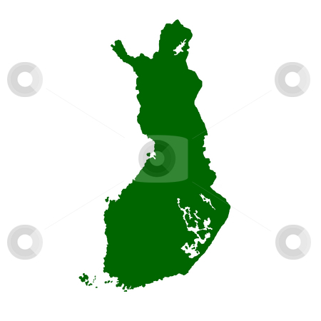Finland stock photo, Map of Finland isolated on white background. by Martin Crowdy
