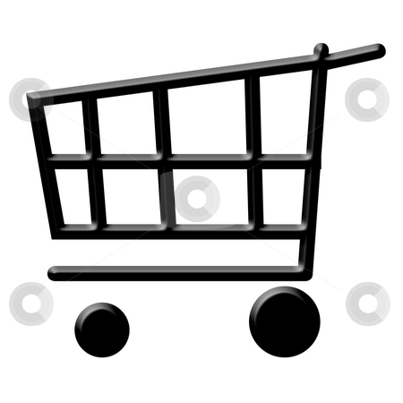 Shopping cart  stock photo, Empty chopping cart of basket icon isolated on white background. by Martin Crowdy
