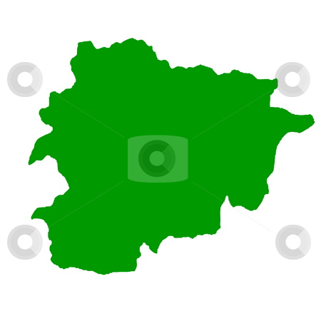 Andorra Map stock photo, Map of Andorra isolated on white background. by Martin Crowdy