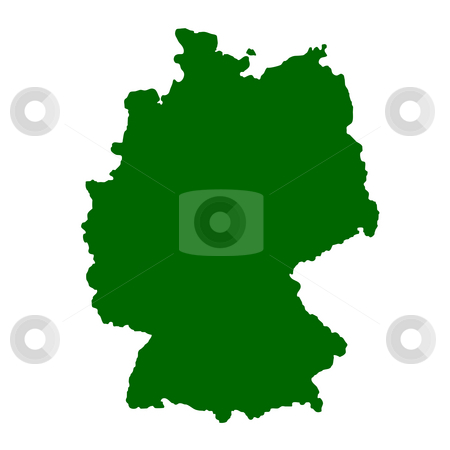 Germany stock photo, Map of Germany isolated on white background. by Martin Crowdy