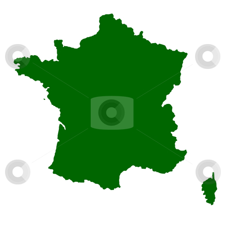 France stock photo, Map of France isolated on white background. by Martin Crowdy