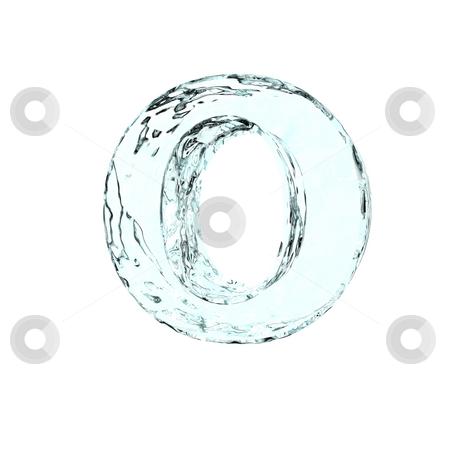 Frozen letter O stock photo, Frozen uppercase letter O on white background - 3d illustration by J?