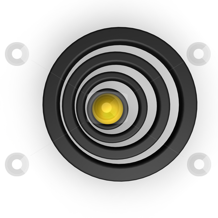 Rings stock photo, Ball and rings on white background - 3d illustration by J?