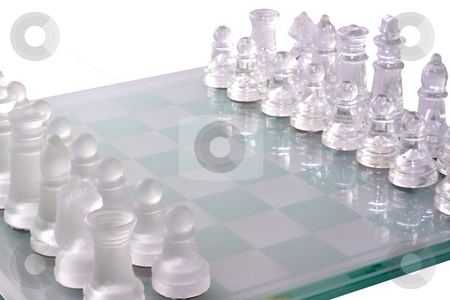 Chess stock photo, Complete armies of chess fronting each other by Fabio Alcini