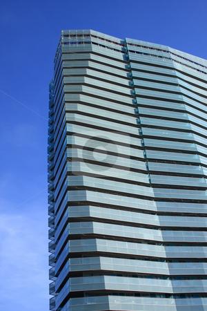 Skyscraper stock photo, Building skyscraper at Barcelonacity in Spain by ARPAD RADOCZY