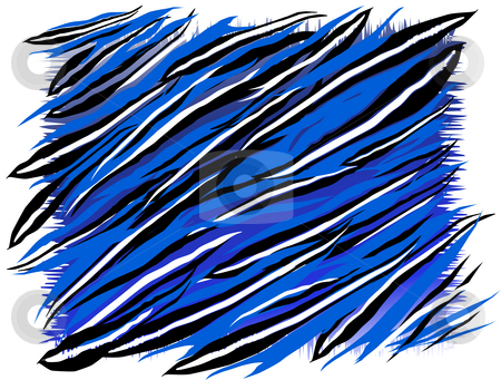 Abstract paint stock photo, Abstract painted picture in blue colours and stripped with black and white by Sergej Razvodovskij