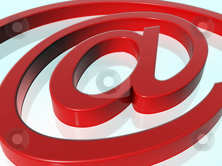 Email icon stock photo, 3d red e-mail icon - at @ by Mile Atanasov