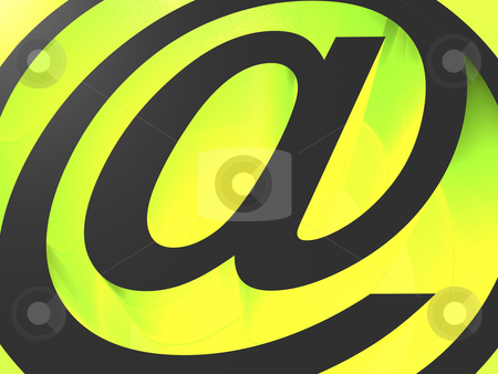 Email icon stock photo, 3d black e-mail icon on green background - at @ by Mile Atanasov