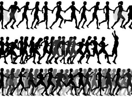 foreground runners stock vector rh cutcaster com free clipart runner girl free clipart runners running