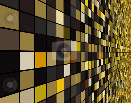 Square tiles stock vector clipart, Vector illustration of a receding wall of colorful squares by Robert Adrian Hillman