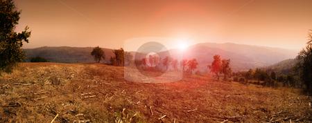 Sumadija stock photo, Panorama of sunset in Sumadija, central Serbia. by Ivan Paunovic