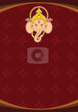 Ganesha stock vector clipart, Ganesha by Ajay Shrivastava