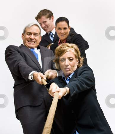 Business people playing tug-of-war stock photo, Business people playing tug-of-war by Jonathan Ross