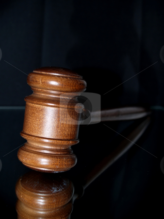 Law concept stock photo, Gavel on mirror by Cora Reed