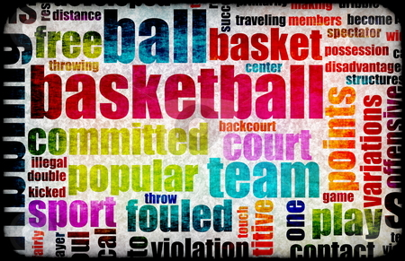 Basketball stock photo, Basketball Game as a Sport Grunge Background by Kheng Ho Toh