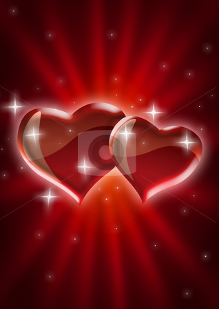 Starry Hearts stock photo,  by rudall30