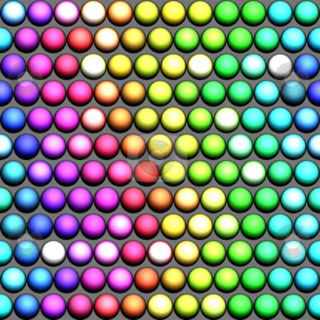 A rainbow of balls stock photo, Seamless pattern of marble spheres in prism colors rainbow by Wino Evertz