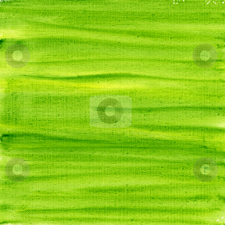 Green and yellow watercolor abstract on canvas  stock photo, Texture of rough green and yellow watercolor abstract on artist cotton canvas, self made by photographer by Marek Uliasz