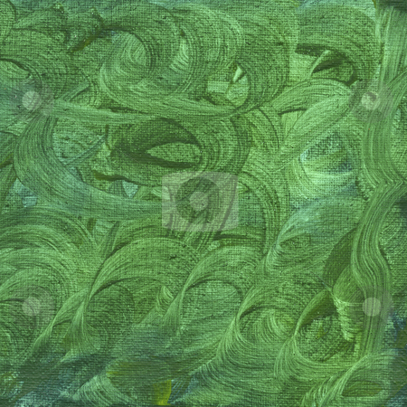 Green watercolor abstract with canvas texture stock photo, Texture of rough green watercolor abstract with circular pattern  on artist cotton canvas, self made by Marek Uliasz