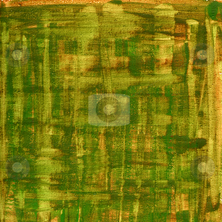 Green, brown, yellow watercolor abstract with canvas texture stock photo, Texture of rough green, brown, yellow  watercolor abstract on artist cotton canvas, self made by Marek Uliasz