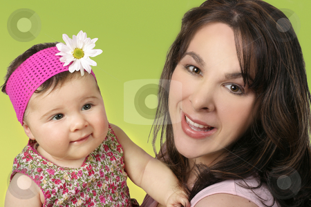 Mother and Daughter stock photo, Mother with her baby daughter. by Leah-Anne Thompson