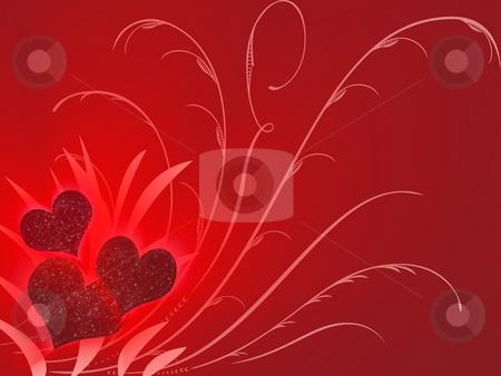 Valentines stock photo, Three valentines in red by Minka Ruskova-Stefanova