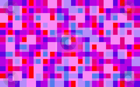 Purple and Pink Grid stock photo, A geometric background pattern of pink and purple squares and lines by Stephen Gibson