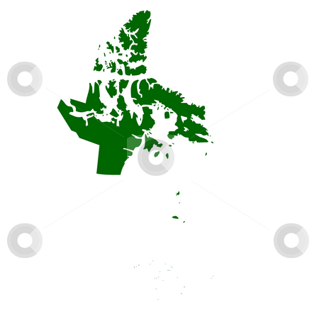 Nanavut Province stock photo, Map of Nanavut province or territory in Canada, isolated on white background. by Martin Crowdy