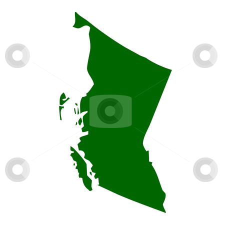 British Columbia Province stock photo, Map of British Columbia province or territory in Canada, isolated on white background. by Martin Crowdy