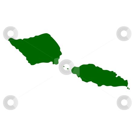 Samoa stock photo, Map of Samoa, isolated on white background. by Martin Crowdy