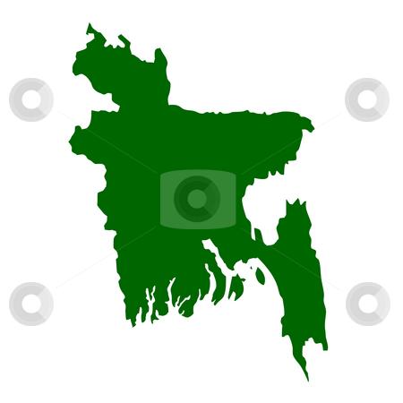 Bangladesh stock photo, Bangladesh map isolated on white background. by Martin Crowdy