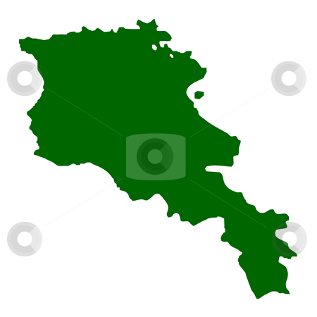 Armenia stock photo, Armenia map isolated on white background. by Martin Crowdy