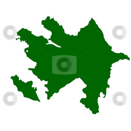 Azerbaijan stock photo, Azerbaijan map isolated on white background. by Martin Crowdy