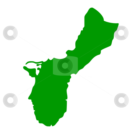 Guam stock photo, Map of Guam Island, isolated on white background. by Martin Crowdy